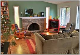 nice decoration living room with brick fireplace paint colors living room with brick fireplace paint colors