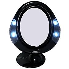 revlon lighted battery operated make up mirror