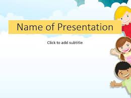 Children In A Garden Childs Template For Presentation