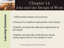 Contemporary Approaches To Job Design Chapter 14 Jobs And The Design Of Work Ppt Download
