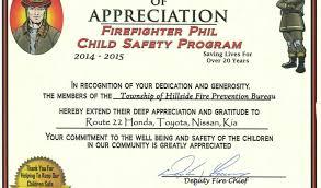 Fire Department Award Certificate Templates Firefighter