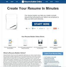 Online Resume Building Tool Professional Resume Templates
