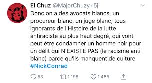 Pendez Les Blancs à Son Procès Le Rappeur Nick Conrad Défend Des