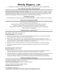 Dental Assistant Resume Do 5 Things