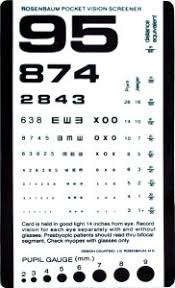 Dot Physical Eye Chart Do Your Eye Test Charts Go The Distance