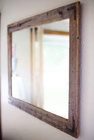 wood mirror frame. Reclaimed Wood Mirror \u2013 Large Wall Rustic Modern Home Decor Housewares Woodwork Frame