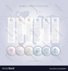 Infographics Color Bubble Chart Template For 6