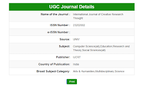 Ijcrt( Issn: 2320-2882 ) | Ugc Approved Journal
