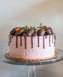 Paleo Chocolate Covered Strawberry Cake Laura The Chef