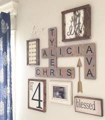 decorating rustic scrabble letters gallery wall ideas diy wall