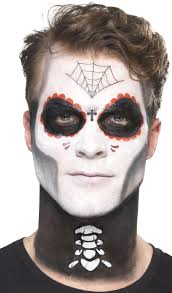 temporary tattoo and facepaint day of the dead makeup kit 6