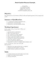 Resume Format For Retail Retail Cashier Resume Sample Resume Retail