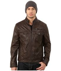 men s faux leather moto jacket upc 647080581250 image for kenneth cole reaction faux leather hipster wood brown