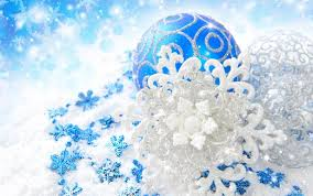 ... Blue And Silver Christmas Decorations Widescreen Wallpaper Wide ...