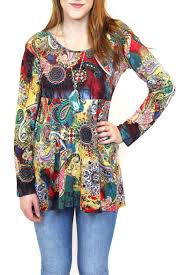 fashion fuse watercolour paisley tunic from vancouver by carte The Fuse Box Paisley fashion fuse watercolour paisley tunic front cropped image the fuse box paisley ltd