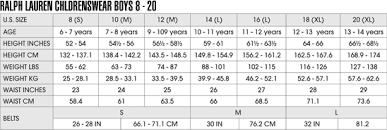 Boys Size Chart Kids Size Charts