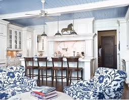 bold blue ceiling