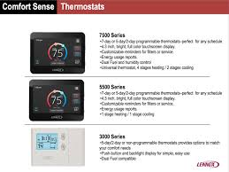 lennox programmable thermostat. the main difference is that it designed for a single stage system. and finally, 3000 series most basic programmable thermostat available. lennox
