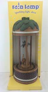vintage 70s cheyenne industries elephant palm tree mineral oil rain lamp nib