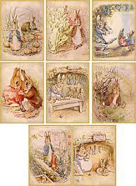 Vintage Illustrations Vintage Illustrations Beatrix Potter Bunnies Cards Stationery Set Of