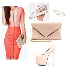 Coral Lace Dress Accessories