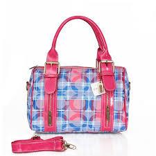 Coach Poppy In Signature Medium Blue Luggage Bags CDZ