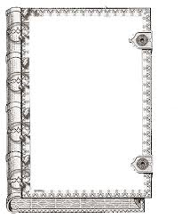 printable book frame cover art could be used as a border or even a coloring page