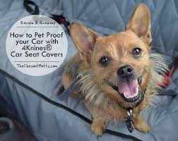 review giveaway how to pet proof your car with 4knines car seat covers