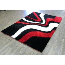 red white and black rug red white and black hand tufted modern area rug