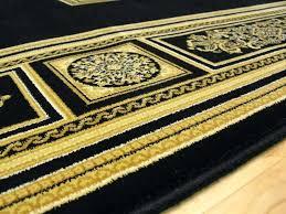 black and gold rug beige mellion floor runner