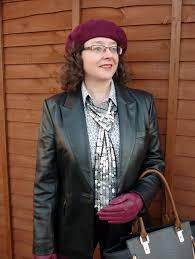precis petite leather jacket land s end shirt accessorize beret new look sequin scarf