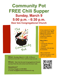 chili supper flyer news deer isle sunset congregational church ucc an open and