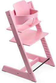 ITEM# 144426-144623 Stokke Tripp Trapp High Chair \u0026 Baby Set - Soft Pink