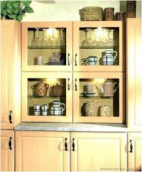 glass shelves kitchen cabinets