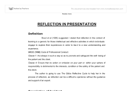 reflection in presentation university subjects allied to  document image preview