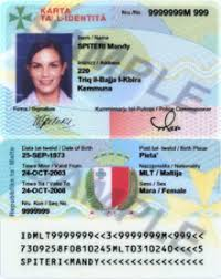 Maltese Identity Wikipedia Card -