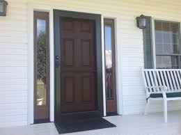 how to tame the countryside with a classic fiberglass door and glass with 6 panel wood storm door