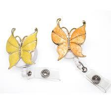 <b>10pcs lot</b> New <b>Butterfly</b> Bling <b>Pretty</b> Badge Holder Stylish ID Badge ...