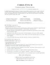 Journeyman Electrician Resume Sample. Journeyman Electrician Resume ...