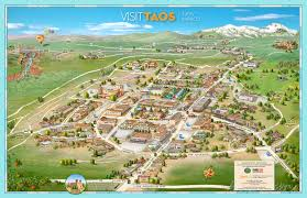 diser the ping areas in the historical district of taos and surrounding areas