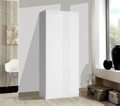 Kleiderschrank Schlafzimmerschrank Schrank 91cm Weiß Matt Weiß