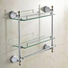 luxury bathroom shelves tempered double