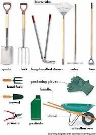 garden equipment. Exellent Garden Gardening Equipment Vocabulary With Pictures Learning English Intended Garden Equipment