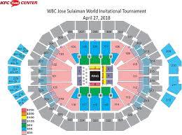 Yum Center Detailed Seating Chart 72 Punctual Kfc Yum Center Seating Views