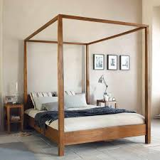 king bed frame wood. Wooden Canopy Bed Frame Modern Bedroom Wood King Size And Shower Romantic Inside 6