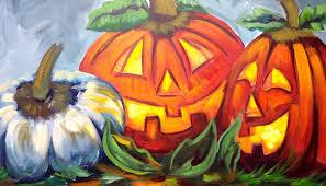 Small Pumpkin Painting How To Paint Pumpkins Jack O Lanterns Cute Halloween Art Youtube