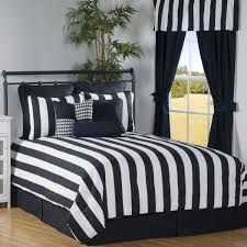 Fine Black And White Curtains Victor Mill City Stripe Curtain Design Ideas