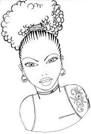 Natural Hair Art Drawing At Getdrawings Natural Hair Coloring