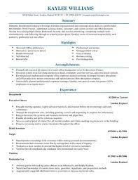 Resume For Receptionist Cv Template Helpful Screenshoot Thus Full