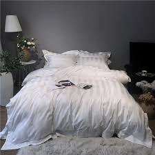 1000tc egyptian cotton white gray stripe bedding set luxury hotel bed set duvet cover soft bed sheet queen king parure de lit grey bedding boys bedding from